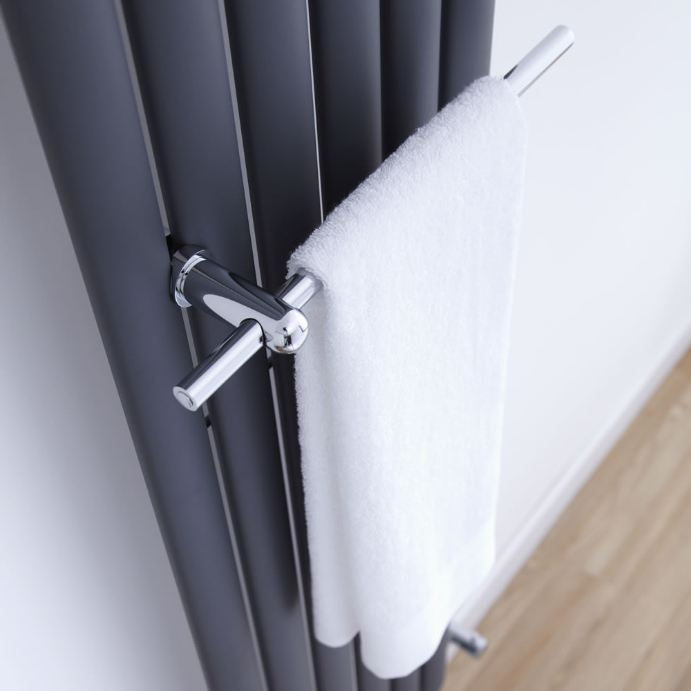 Milano - Chrome Towel Rail for Aruba Vertical Designer Radiator 350mm