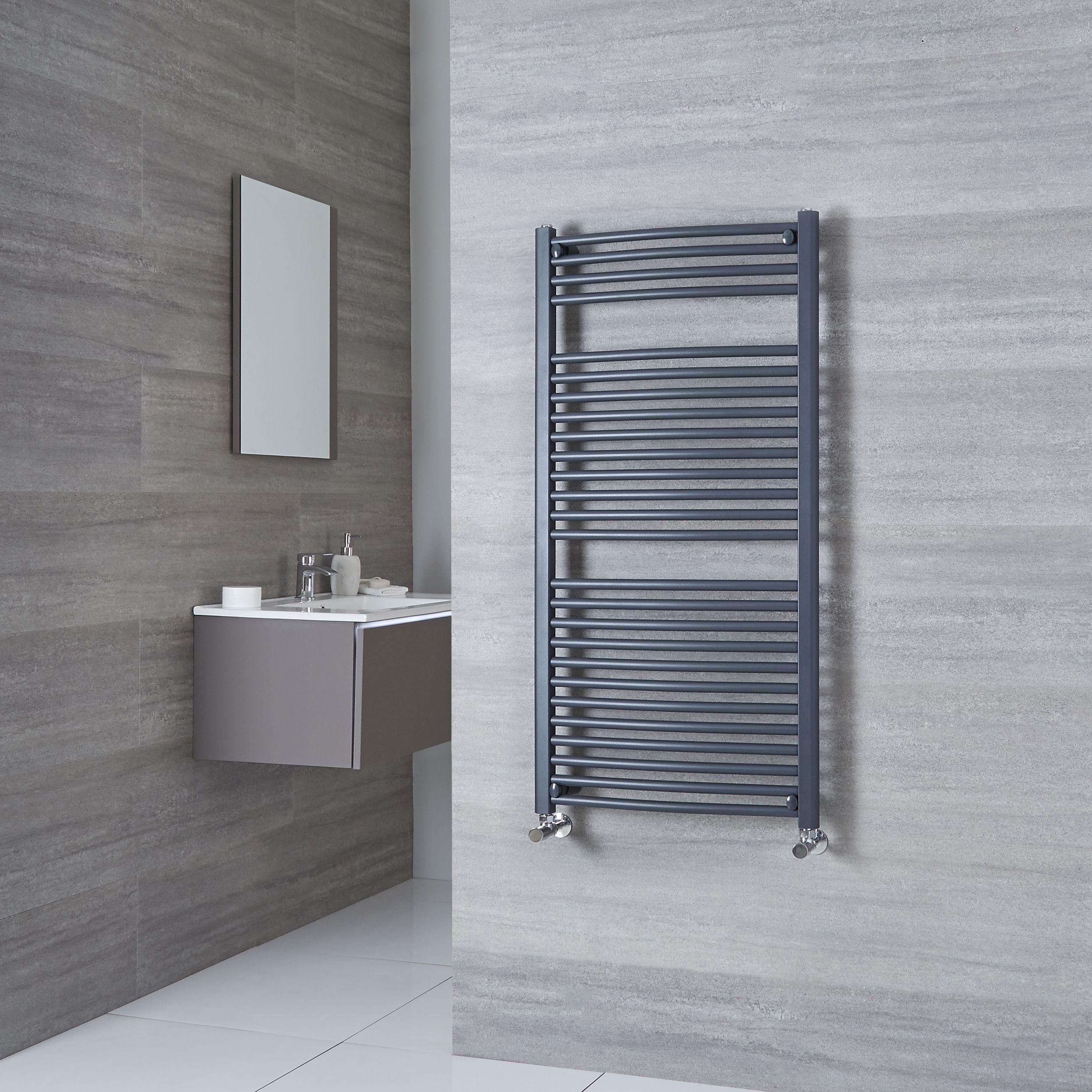 Modern Anthracite Flat Panel Heated Towel Rail Bathroom Cast Iron Style Radiator Business Office Industrial Radiators Towel Rails Pavanelloprojetos Com Br