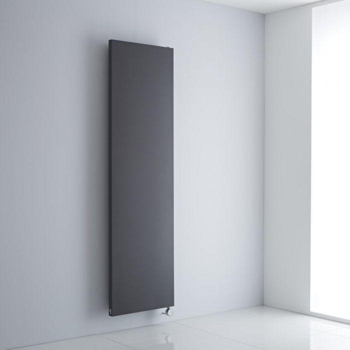Milano Riso Electric - Anthracite Flat Panel Vertical Designer Radiator 1800mm x 500mm