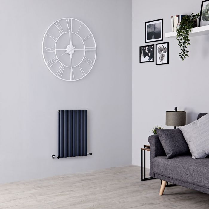 Milano Aruba Ayre - Aluminium Anthracite Horizontal Designer Radiator 600mm x 410mm (Double Panel)
