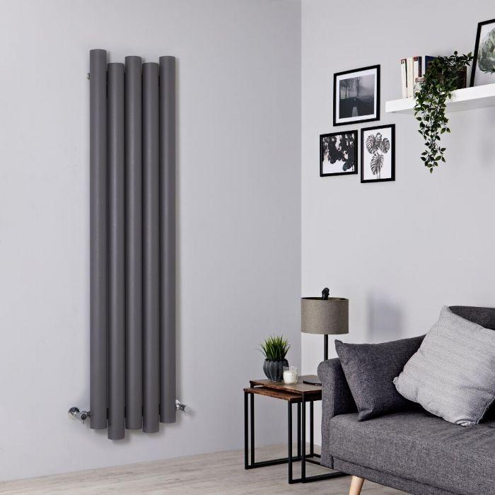 Milano Motus - Light Grey Vertical Aluminium Designer Radiator 1600mm x 390mm