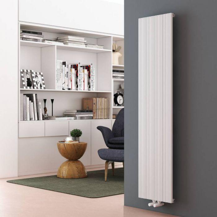 Milano Lex - White Vertical Aluminium Designer Radiator 1600mm x 375mm