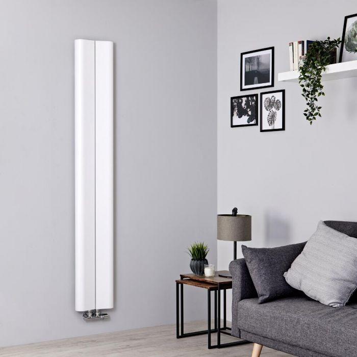 Milano Solis - White Vertical Aluminium Designer Radiator 1600mm x 245mm