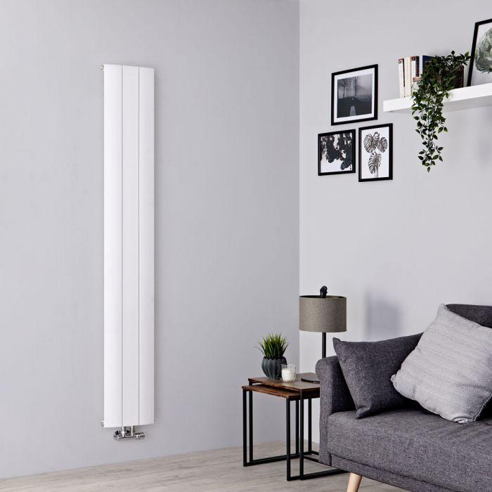 Milano Skye - Aluminium White Vertical Designer Radiator 1600mm x 280mm