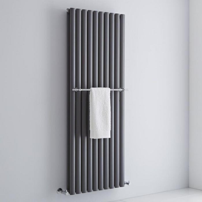 Milano - Chrome Towel Rail for Aruba Vertical Designer Radiator 590mm