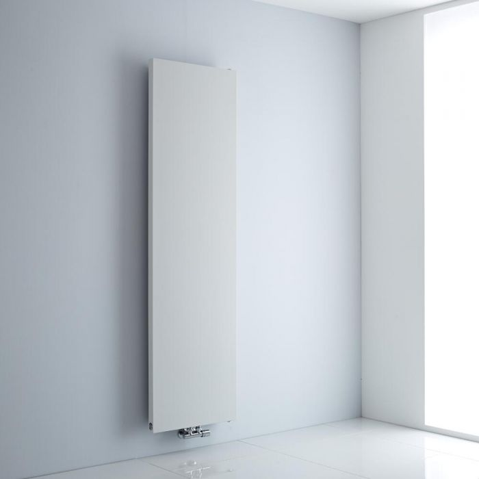 Milano Riso - White Flat Panel Vertical Designer Radiator 1800mm x 500mm