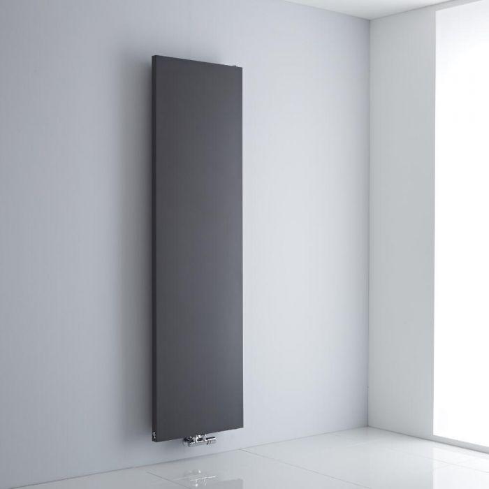 Milano Riso - Anthracite Flat Panel Vertical Designer Radiator 1800mm x 500mm