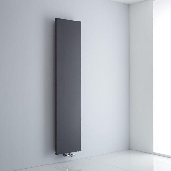 Milano Riso - Anthracite Flat Panel Vertical Designer Radiator 1800mm x 400mm