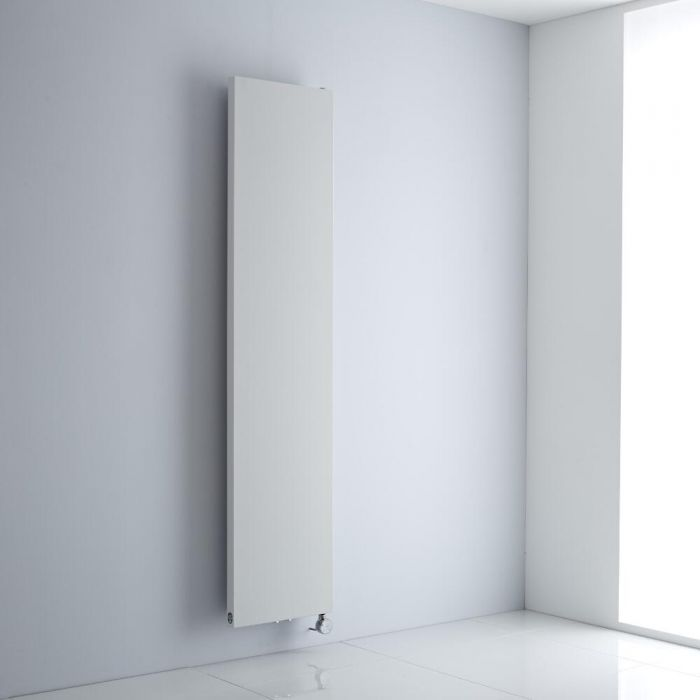 Milano Riso Electric - White Flat Panel Vertical Designer Radiator 1800mm x 400mm