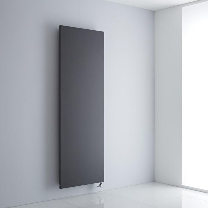 Milano Riso Electric - Anthracite Flat Panel Vertical Designer Radiator 1800mm x 600mm