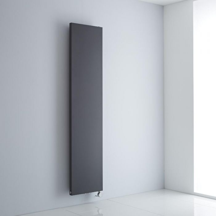 Milano Riso Electric - Anthracite Flat Panel Vertical Designer Radiator 1800mm x 400mm