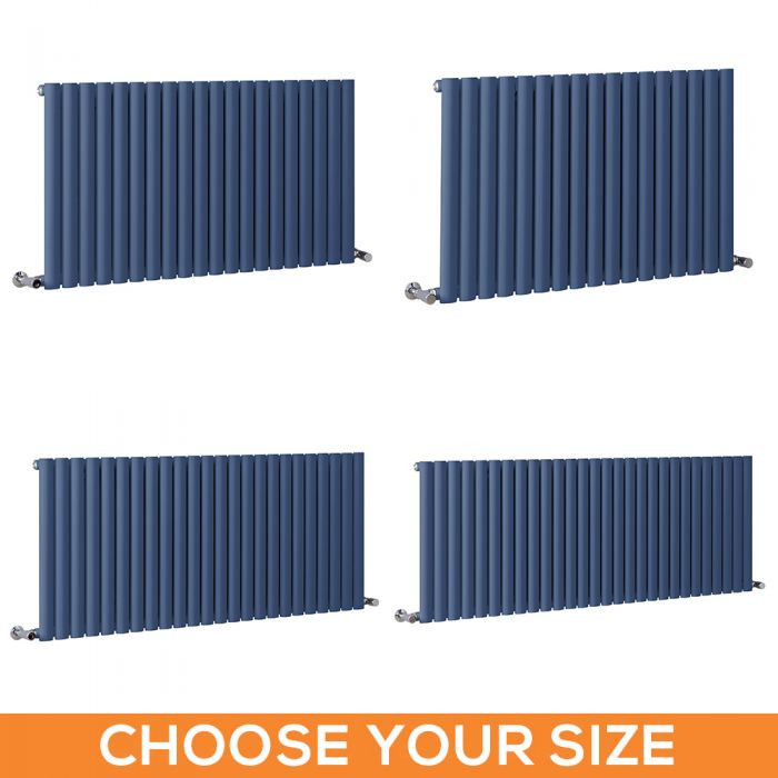 Milano Aruba - Dark Blue Horizontal Single Panel Designer Radiator - Various Sizes
