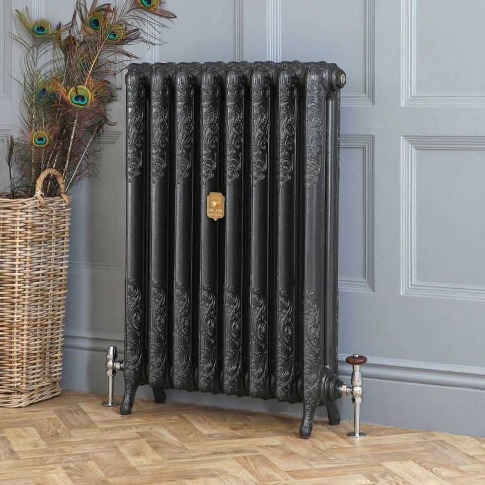 Milano Beatrix - Cast Iron Radiator - 950mm Tall - Antique Graphite - Multiple Sizes Available