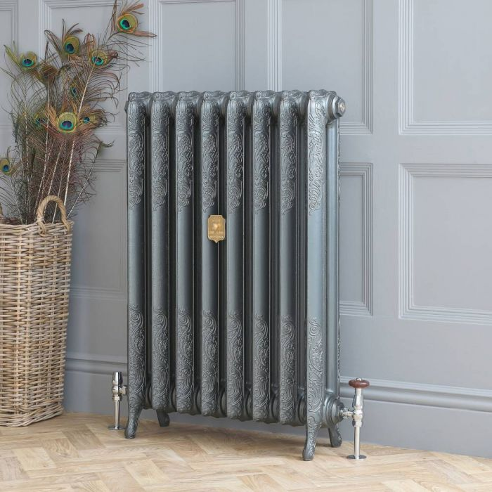 Milano Beatrix - Cast Iron Radiator - 510mm Tall - Antique Silver - Multiple Sizes Available