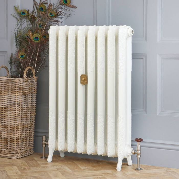 Milano Beatrix - Cast Iron Radiator - 950mm Tall - Porcelain White - Multiple Sizes Available