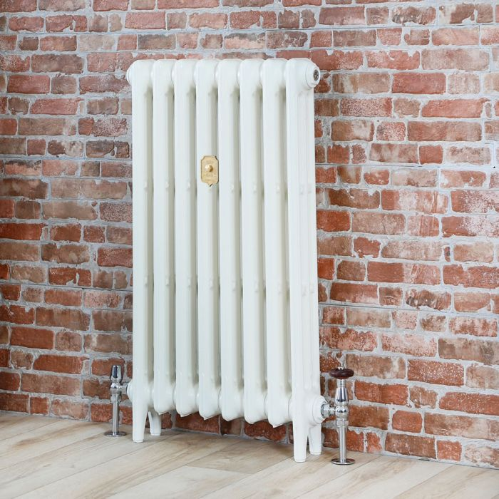 Milano Mercury - Cast Iron Radiator - 660mm Tall - Porcelain White - Multiple Sizes Available