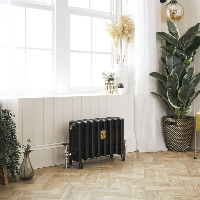 Milano Isabel - Cast Iron Radiator - 357mm Tall - Antique Graphite - Multiple Sizes Available