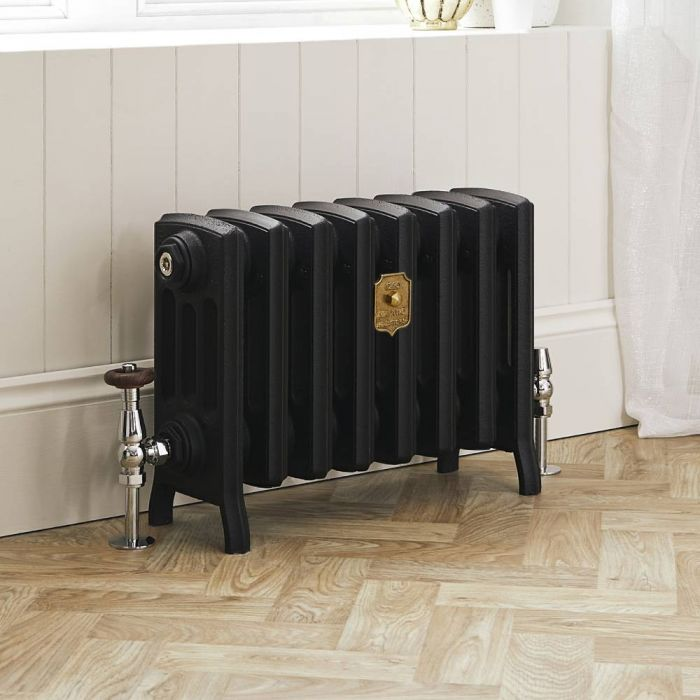 Milano Isabel - Cast Iron Radiator - 357mm Tall - Slate Black - Multiple Sizes Available
