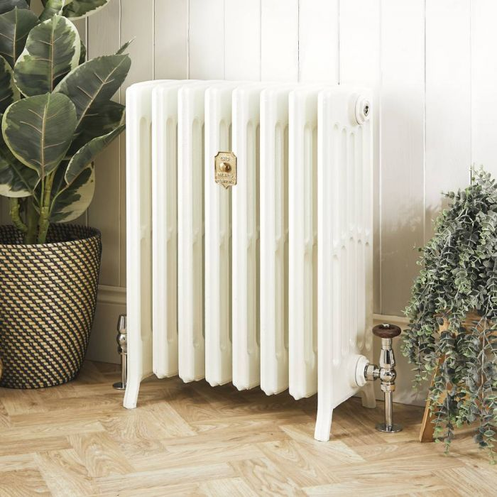 Milano Isabel - Cast Iron Radiator - 660mm Tall - Porcelain White - Multiple Sizes Available