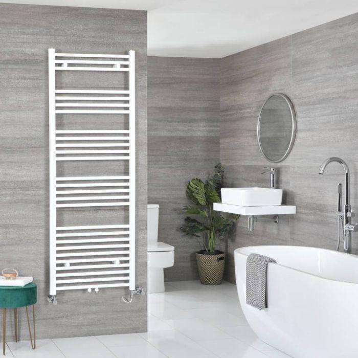 Milano Neva - White Dual Fuel Heated Towel Rail 1600mm x 500mm