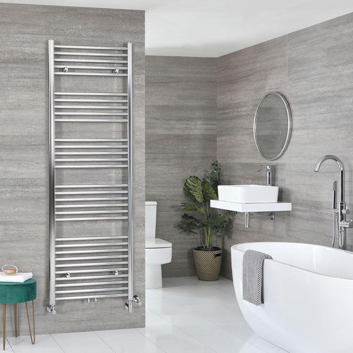 Milano Neva - Chrome Dual Fuel Heated Towel Rail 1785mm x 500mm
