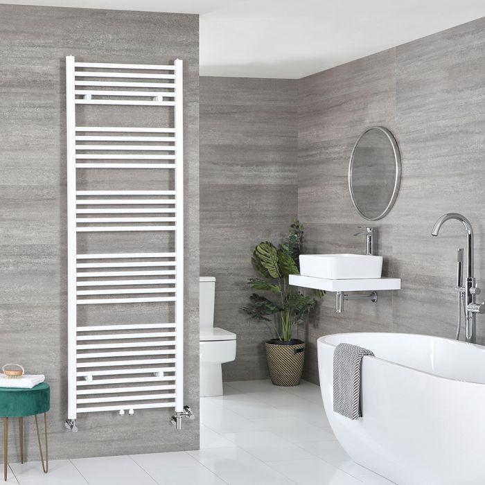 Milano Neva - White Dual Fuel Heated Towel Rail 1785mm x 500mm