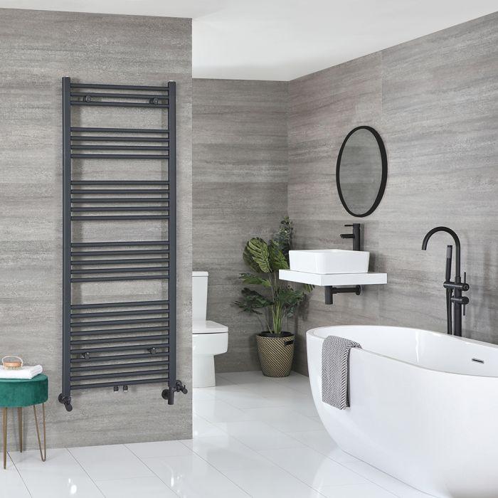 Milano Neva - Anthracite Dual Fuel Heated Towel Rail 1600mm x 600mm
