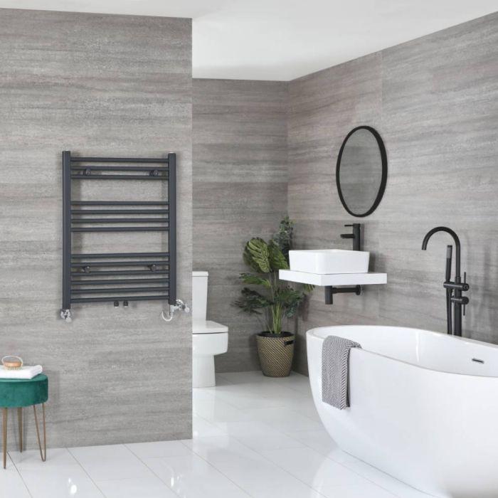 Milano Neva - Anthracite Dual Fuel Heated Towel Rail 803mm x 600mm