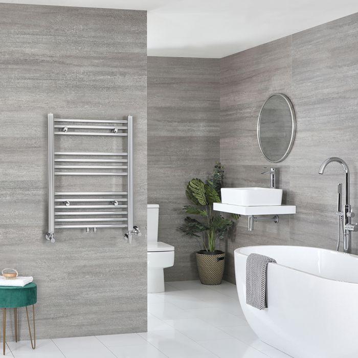 Milano Neva - Chrome Dual Fuel Heated Towel Rail 803mm x 600mm