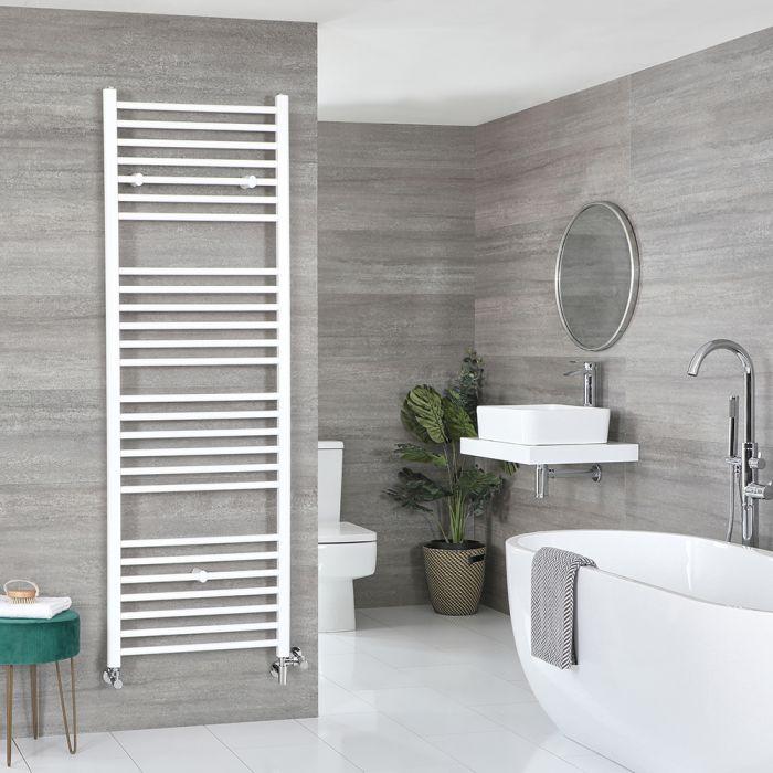 Milano Ive - White Dual Fuel Flat Heated Towel Rail 1800mm x 500mm
