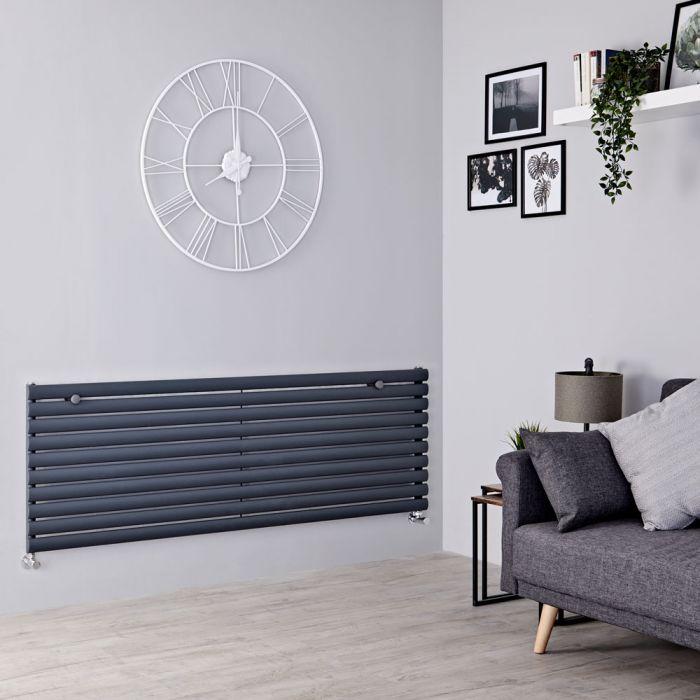 Milano Aruba - Anthracite Horizontal Designer Radiator 590mm x 1600mm