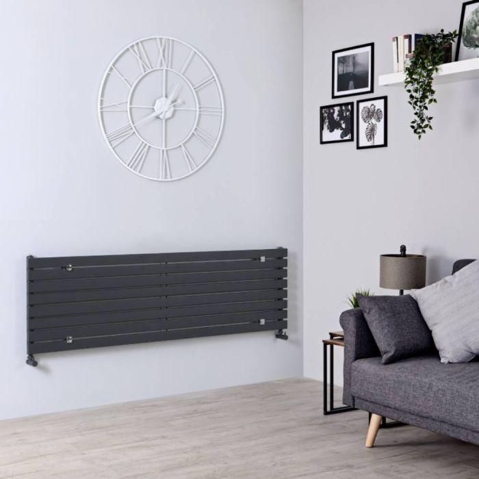 Milano Capri - Anthracite Horizontal Flat Panel Designer Radiator 472mm x 1600mm