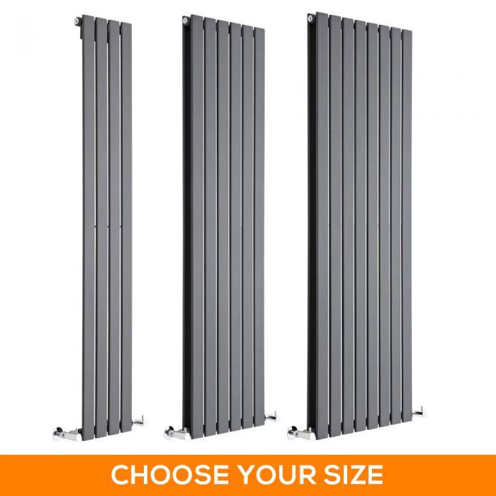 Milano Alpha - Anthracite Vertical Designer Radiator - Various Sizes
