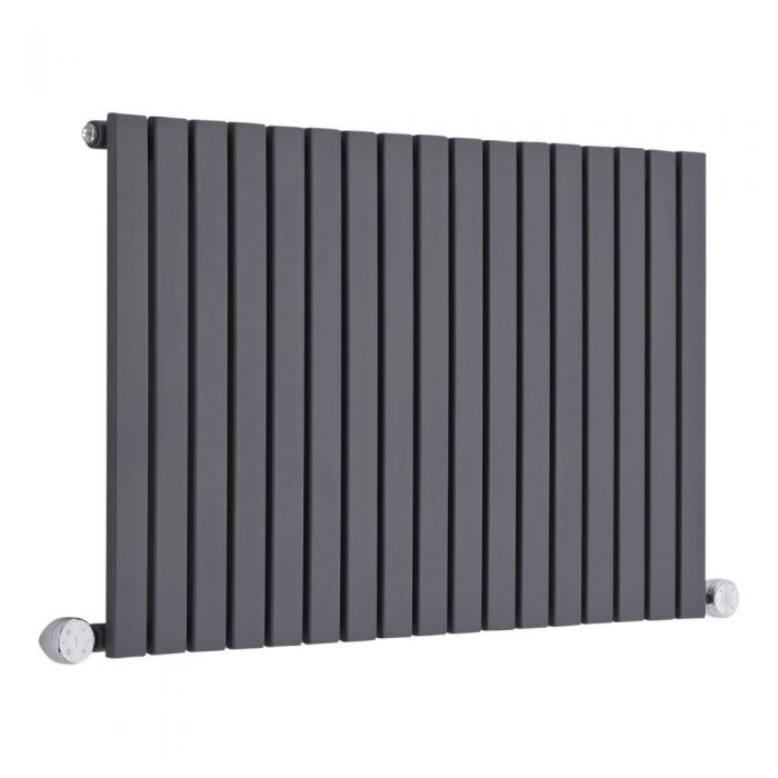 Milano Capri Electric - 635mm Anthracite Horizontal Designer Radiator - Various Sizes