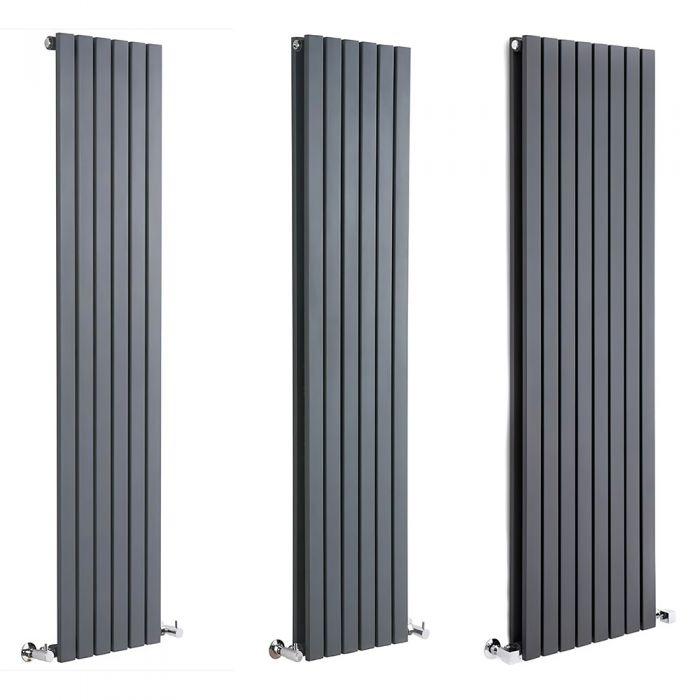 Milano Capri - Anthracite Flat Panel Vertical Designer Radiator - Various Sizes