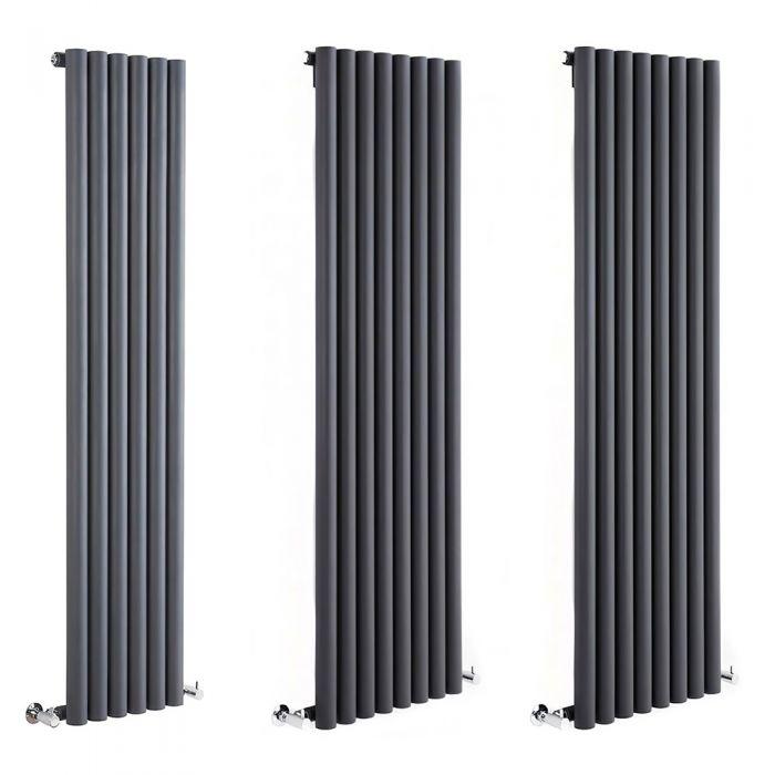 Milano Java - Anthracite Vertical Designer Radiator - Various Sizes