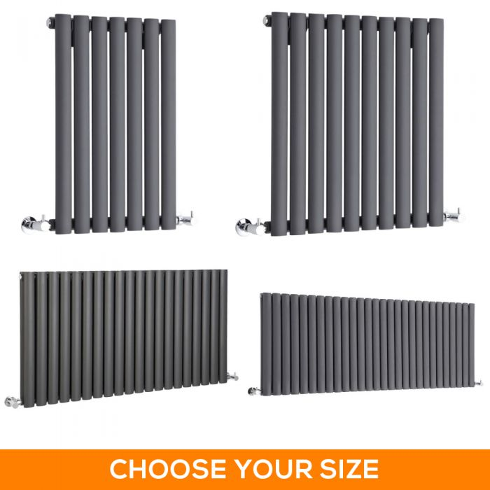 Milano Aruba - Anthracite Horizontal Designer Radiator - Various Sizes