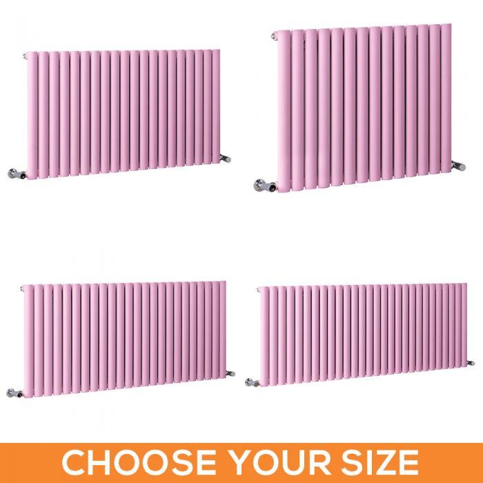 Milano Aruba - Pink Horizontal Single Panel Designer Radiator - Various Sizes