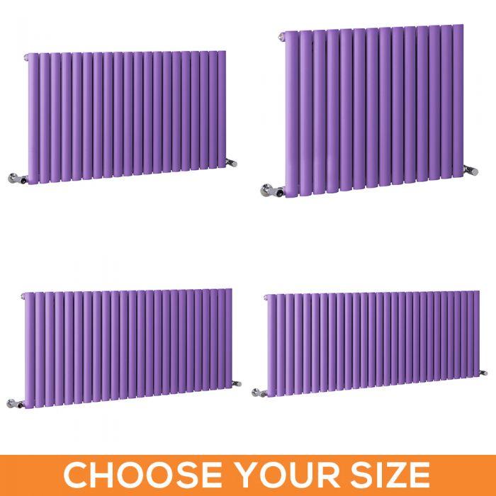 Milano Aruba - Purple Horizontal Single Panel Designer Radiator - Various Sizes