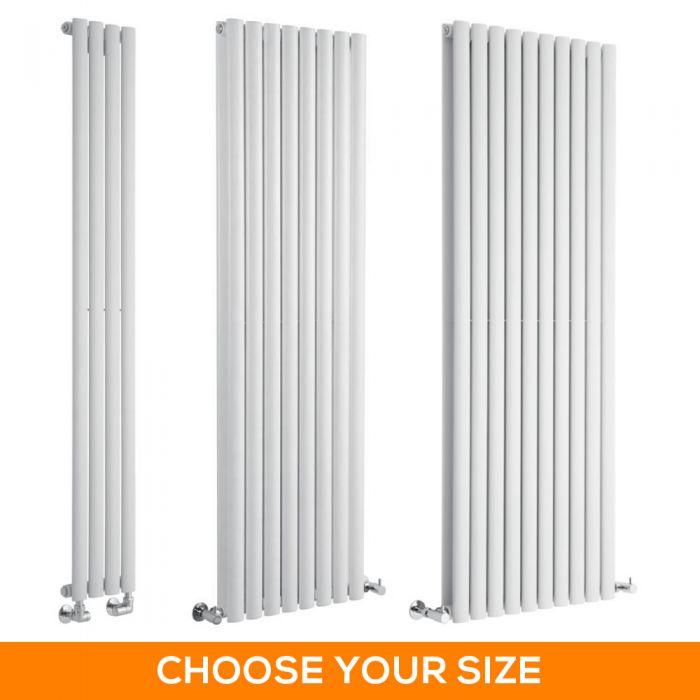 Milano Aruba - White Vertical Designer Radiator - Various Sizes