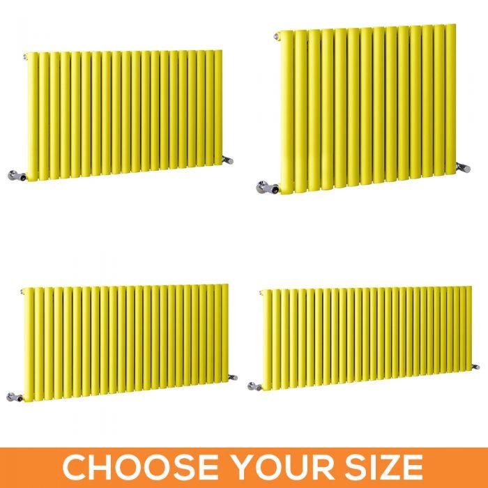 Milano Aruba - Yellow Horizontal Single Panel Designer Radiator - Various Sizes