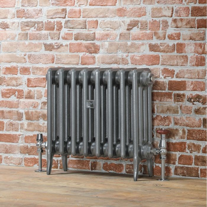 Milano Alice (Low-Level) Classic Column Cast Iron Radiator - 460mm – Pewter