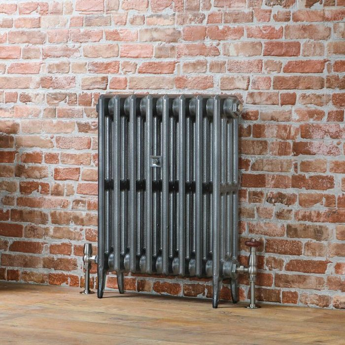 Milano Alice - Classic Cast Iron Column Radiator - 660mm Tall - Pewter - Multiple Sizes Available
