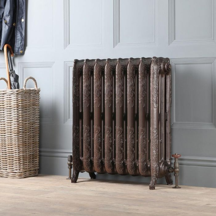 Milano Beatrix - Ornate Cast Iron Radiator - 768mm Tall - Antique Copper - Multiple Sizes Available