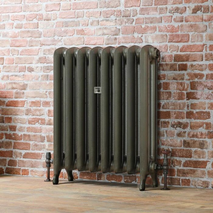 Milano Tamara - Oval Column Cast Iron Radiator 760mm - Antique Brass