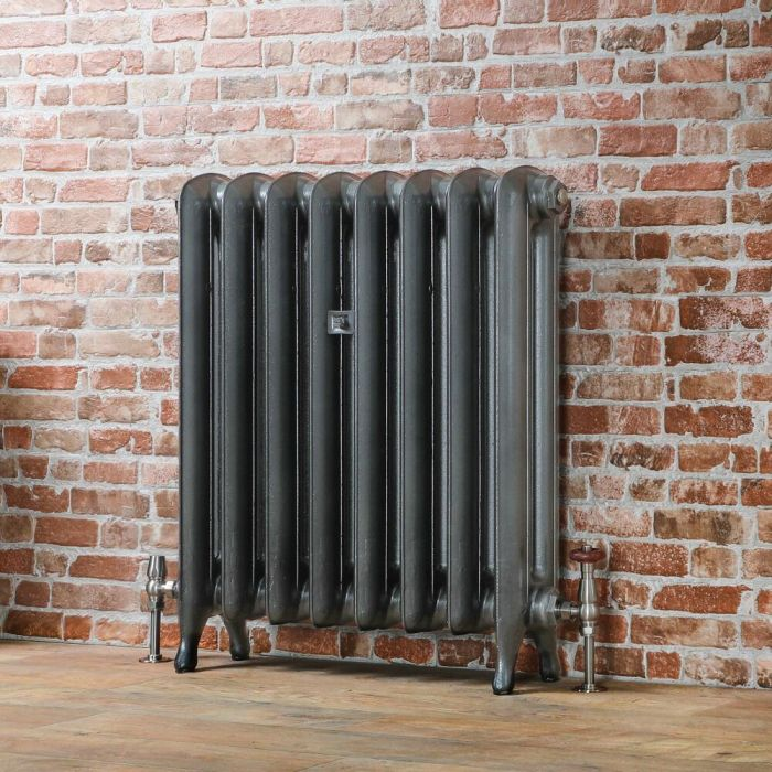 Milano Tamara - Oval Column Cast Iron Radiator 760mm - Pewter