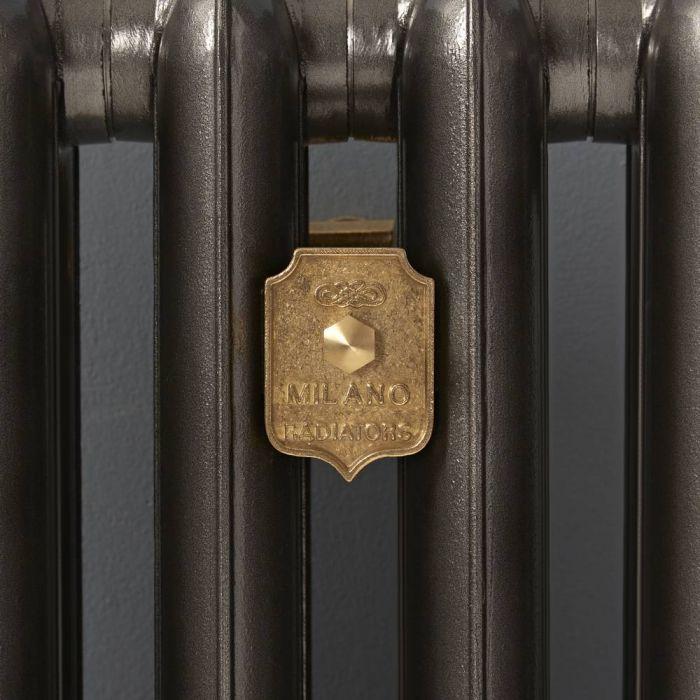 Milano - Cast Iron Radiator Luxury Wall Stay - Brass