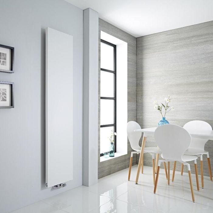 Milano Riso - White Flat Panel Vertical Designer Radiator 1800mm x 400mm