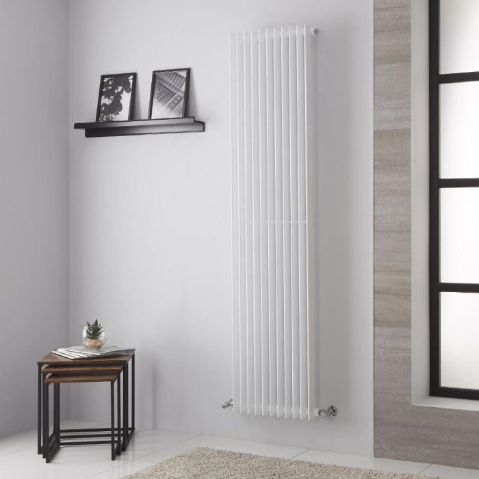 Lazzarini Way - Arezzo - White Vertical Designer Radiator - 1800mm x 445mm