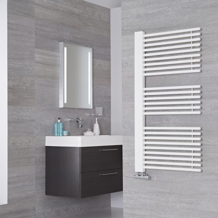 Lazzarini Way - Grado - Mineral White Designer Heated Towel Rail - 1190mm x 600mm